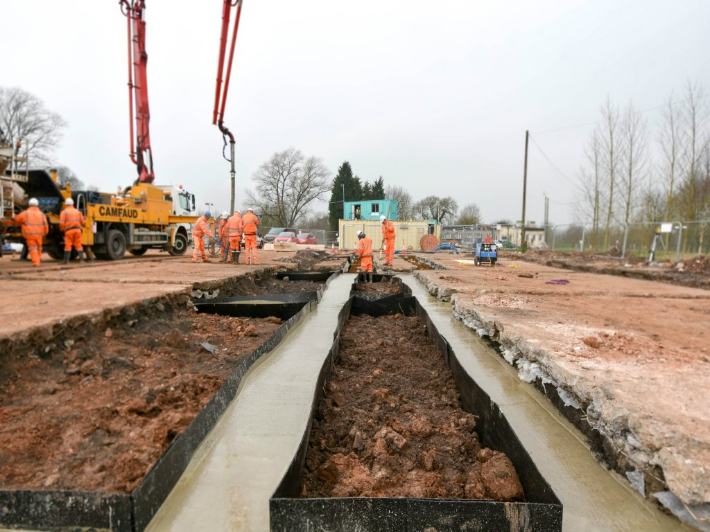 Concreting foundations