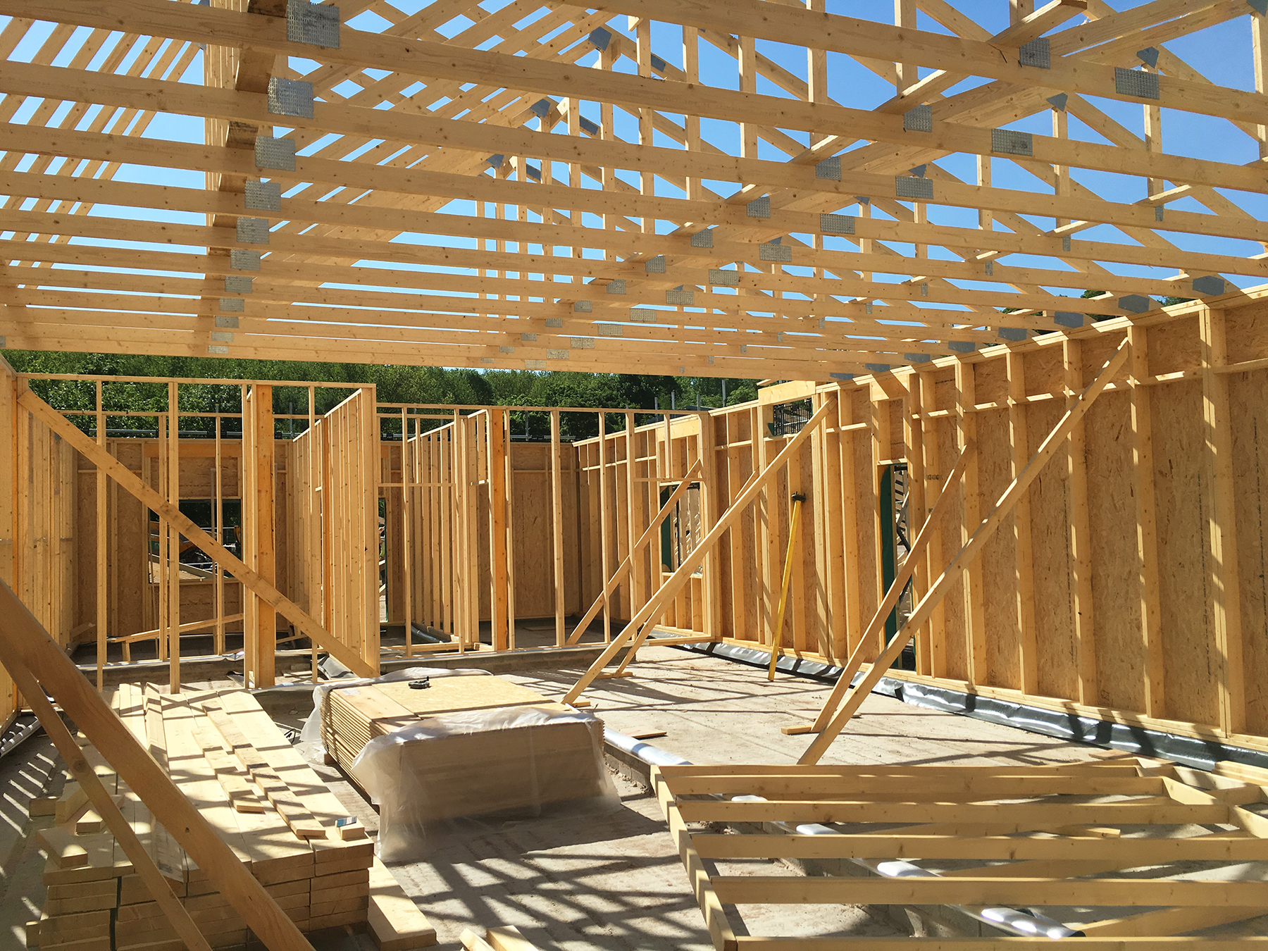 Inside timber frame