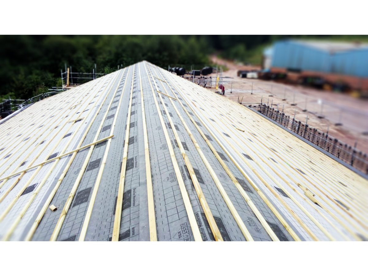 Weekly progress at Fauld – Roofing works