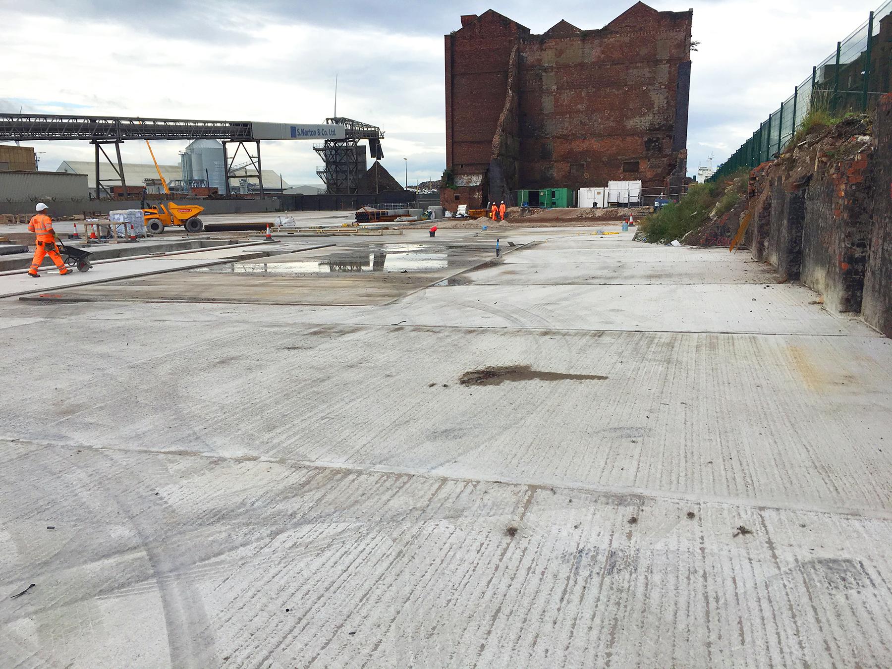 Concrete Asphalt plant base